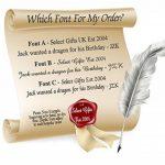 Drapeau Amérique Gold-tone de manchette argent gravé Collier Cadeau de la marque Select Gifts image 3 produit