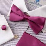 EBC1E01 Multicolored Soild Soie pr¨¦-li¨¦ n?ud papillon Cufflinks Handky Set Par Epoint de la marque Epoint image 3 produit