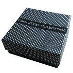 Elastique Réglable - Large Bracelet en Acier - Hommes et Femmes Bracelet Manchette Câble Torsadé - Bleu Argent Deux Tons de la marque COOLSTEELANDBEYOND image 4 produit