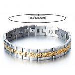 Exquise Bracelet Aimanté en Acier Inoxydable Homme - Aimants- Couleur Argent Or - Outil de Suppression de Lien Inclus de la marque H+C image 1 produit