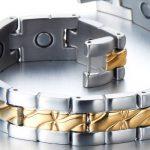 Exquise Bracelet Aimanté en Acier Inoxydable Homme - Aimants- Couleur Argent Or - Outil de Suppression de Lien Inclus de la marque H+C image 2 produit