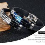 Fate Love Bijoux pour Homme Sport en Silicone Bracelet Croix Chrétienne, bleu/noir de la marque Fate Love Jewellery image 3 produit