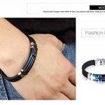 Fate Love Bijoux pour Homme Sport en Silicone Bracelet Croix Chrétienne, bleu/noir de la marque Fate Love Jewellery image 4 produit