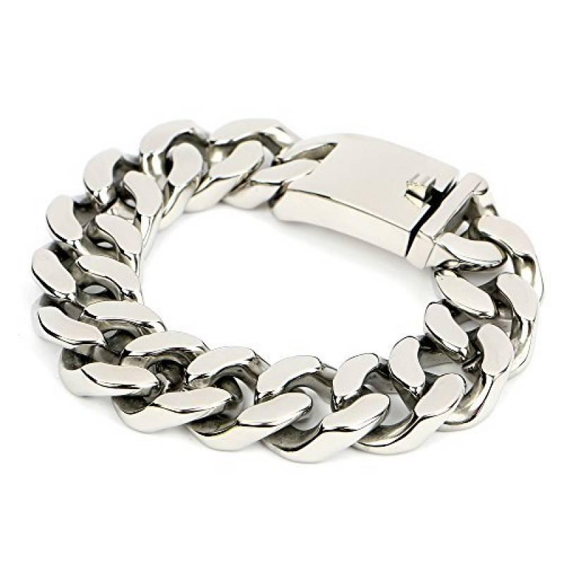 Bracelet homme argent grosse maille