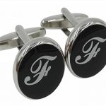 Gemony Men's Fashion Shirts Boutons de manchette 2PCS, Boîte cadeau - Qualité Premium Lettres personnalisées A-Z de la marque Gemony image 1 produit