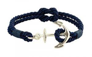 geralin gioielli Bracelet Homme Ancre en argent Bleu marine Nœud Marin fabriqué à la main de la marque Geralin Gioielli image 0 produit