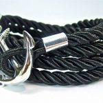 Geralin gioielli Bracelet pour homme Fermoir ancre marine Noir/Argenté de la marque Geralin Gioielli image 1 produit