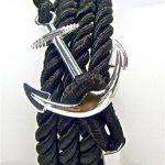 Geralin gioielli Bracelet pour homme Fermoir ancre marine Noir/Argenté de la marque Geralin Gioielli image 2 produit