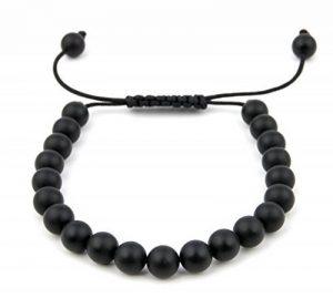 GOOD.designs luxe shamballa bracelet de perles de bonheur Pierres Naturelles Onyx Noir Mat, Boîte À Bijoux de la marque GOOD.designs image 0 produit