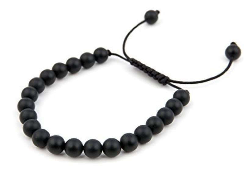 bracelet homme perle luxe bracelet homme noir perle plate de luxe plaque rhodium noir with. Black Bedroom Furniture Sets. Home Design Ideas