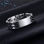 Gourmette pour Homme PROSTEEL Bracelet à Maillons en Acier Inoxydable avec Plaque Fashion Bijoux de la marque PROSTEEL image 2 produit