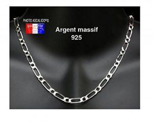 Grosse chaine pour homme en argent massif maille figaro 1+1 6mm 55cm de la marque ASCALIDO image 0 produit