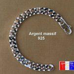 Grosse gourmette epaisse longue et large pour Homme. bracelet en argent massif 925 Luxe 22cm ASCALIDO® de la marque ASCALIDO image 2 produit