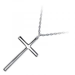GWG® Collier à Pendentif Croix Plaqué En Métal Précieux Pour Femme Et Homme de la marque GWG Jewellery image 0 produit
