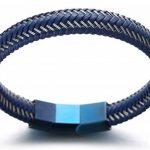 """Halukakah «JAZZ»: Le Bracelet de l'homme en Cuir Véritable Fermoir Mgnétique en Titan Taille Réglable 8.2""""-8.7""""(21-22cm) avec le Boîte-cadeau GRATUIT de la marque Halukakah image 4 produit"""