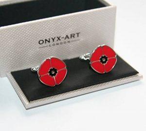 Hommes Boutons De Manchettes - COQUELICOT Motif neuf emballé de la marque Onyx Art image 0 produit