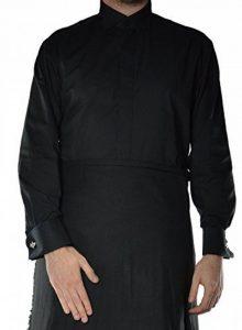 Hommes Noir Chemise à col cassé avec double manchette de la marque Macdonald Sporrans image 0 produit