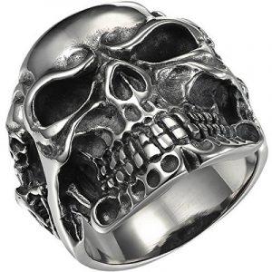 HOUSWEETY Bague Anneaux Homme en Acier Inoxydable Fantaisie Grand Crâne Tête de Mort de la marque Housweety image 0 produit