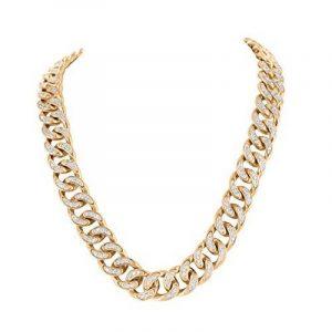 ICY Finition or rose Miami cubain Style Pave Lab diamants pour homme Chaîne 91,4cm de la marque Master Of Bling image 0 produit
