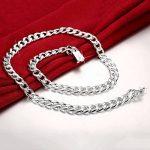 Idéale pour l'eau Hommes de style Collier Chaînes Argent Plaqué Cadeaux pour Hommes Liens Bijoux Borong de la marque Borong image 2 produit