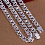 Idéale pour l'eau Hommes de style Collier Chaînes Argent Plaqué Cadeaux pour Hommes Liens Bijoux Borong de la marque Borong image 3 produit