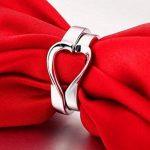 Infinite U 2 Pièces de Cœurs Argent 925 Couples Bagues pour Anniversaire/Fiançailles Taille de Bague 49 à 64 de la marque Infinite U image 2 produit