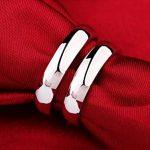 Infinite U Argent 925 Couples Bagues pour Anniversaire/Fiançailles/Promesse Taille de Bague de 49 à 64 de la marque Infinite U image 1 produit
