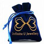 """Infinite U pendentif collier élégant le cercle classique """"Love forever"""" en 925 argent pour femme homme les amoureux(2 pièces) de la marque Infinite U image 6 produit"""