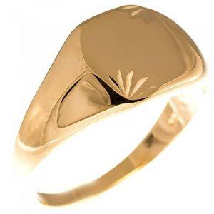 ISADY - Amazing Gold - Bague Mixte Homme Femme - Chevalière - Plaqué Or 750/000 (18 carats) - Gravure Gratuite de la marque Isady image 0 produit
