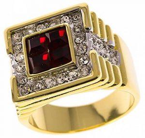 ISADY - Dimitri - Bague Homme - Chevalière - Oxyde de zirconium rouge de la marque Isady image 0 produit