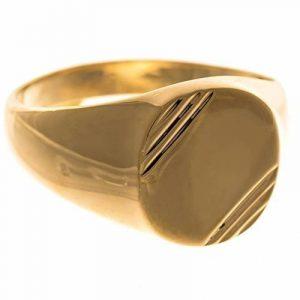 ISADY - Eternal Gold - Bague Mixte Homme Femme - Chevalière - Plaqué Or 750/000 (18 carats) - Gravure Gratuite de la marque Isady image 0 produit