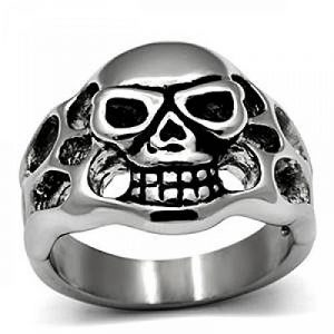 ISADY - Huckleberry - Bague Homme - Chevalière - Acier - Tête de mort - Crâne de la marque Isady image 0 produit
