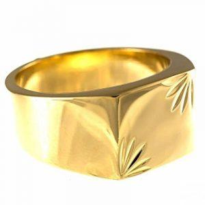 ISADY - Precious Gold - Bague Mixte Homme Femme - Chevalière - Plaqué Or 750/000 (18 carats) de la marque Isady image 0 produit