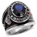 ISADY - US Marines Ryan - Bague Homme - Chevalière - Acier - Oxyde de zirconium bleu de la marque Isady image 1 produit