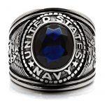 ISADY - US Navy Saphir - Bague Homme - Chevalière - Acier - Oxyde de zirconium bleu de la marque Isady image 2 produit