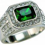 ISADY - Vincent - Bague Homme - Chevalière - Acier - Oxyde de zirconium transparent et vert de la marque Isady image 1 produit
