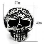 ISADY - Weston - Bague Homme - Chevalière - Acier - Tête de mort - Crâne de la marque Isady image 1 produit