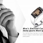 JewelryPalace 1.2ct Elégant Luxe Bague Homme en Argent Sterling 925 en Citrine Naturelle Jaune en Forme Emeraude Pour Fiançailles Alliance Marigae Anniversaire de la marque Jewelrypalace image 5 produit