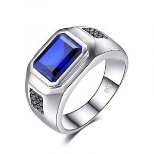 JewelryPalace Luxe Bague Homme en Argent Sterling 925 en Saphir de Synthèse 4.47ct pour Fiançailles Mariage Alliance Anniversaire de la marque Jewelrypalace image 0 produit