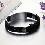Jewow Bijoux acier inoxydable Silicone Bracelet pour les Homme Réglable (16-21cm) de la marque Jewow image 1 produit
