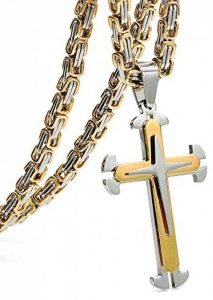 Jstyle Acier Inoxyable Collier Homme Byzantine Pendentif à Croix avec la Chaîne 56cm 61cm 76cm de la marque Jstyle image 0 produit