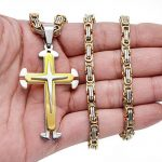 Jstyle Acier Inoxyable Collier Homme Byzantine Pendentif à Croix avec la Chaîne 56cm 61cm 76cm de la marque Jstyle image 2 produit