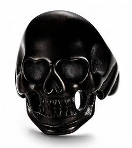 Jstyle Bijoux Acier Inoxydable Bague pour Hommes Noir Vintage Tête de Mort 57-70 de la marque Jstyle image 0 produit