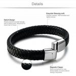 Jstyle Bijoux Acier Inoxydable Bracelet Homme Cuir Vintage Noir Marron 20.5cm 21.5cm de la marque Jstyle image 1 produit