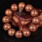 kalaixing marque bois poignet bracelet lien chaîne collier bouddhiste tibétain Mâlâ en gris chinois noeud élastique hommes, femmes–6mm-8mm-2pcs de la marque KaLaiXing image 2 produit