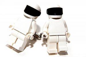 Lego Stig Boutons de manchette Boutons de manchette dans boîte cadeau de présentation de la marque Jeff Jeffers Customs image 0 produit