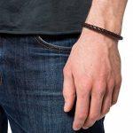 Lower East lE140 Bracelet en acier inoxydable et cuir pour homme 22,5 cm de la marque Lower East image 4 produit
