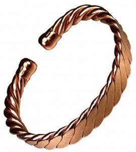 Magnétique Homme Lourde Aplatis Cuivre Bracelet MCB023 de la marque The Online Bazaar image 0 produit