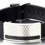 Masculin Grand Bracelet en Cuir Homme - Acier Inoxydable Bracelet avec Carbone Fibre de la marque COOLSTEELANDBEYOND image 1 produit