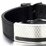 Masculin Grand Bracelet en Cuir Homme - Acier Inoxydable Bracelet avec Carbone Fibre de la marque COOLSTEELANDBEYOND image 2 produit